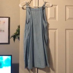 Denim Tunic with side slits and adjustable back!